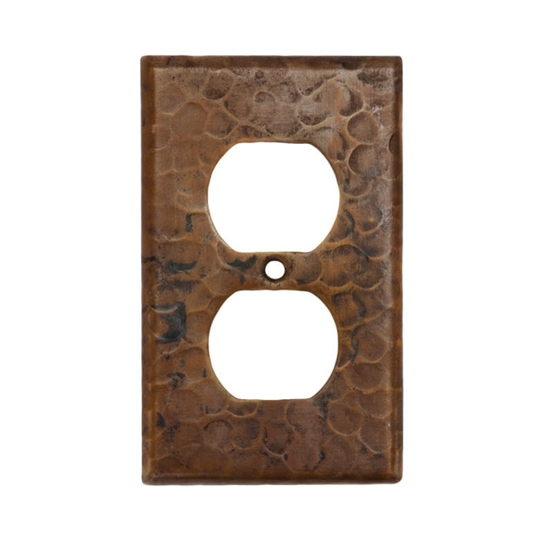 Copper Switchplate Single Duplex 2 Hole Outlet Cover Premier