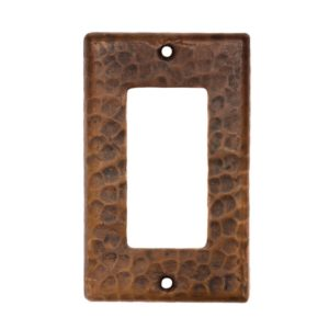 Copper Single Ground Fault/Rocker GFI Switchplate Cover