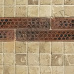 1″ x 8″ Hammered Copper Tile