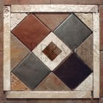2″ x 2″ Copper Hammered Tile