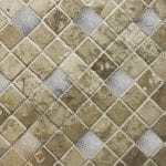 2″ x 2″ Nickel Plated Hammered Copper Tile