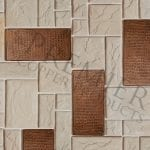 3″ x 6″ Hammered Copper Tile