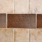 4″ x 8″ Hammered Copper Tile