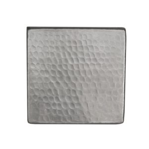 """4"""" x 4"""" Nickel Plated Hammered Copper Tile"""