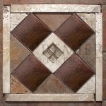 6″ x 6″ Copper Hammered Tile