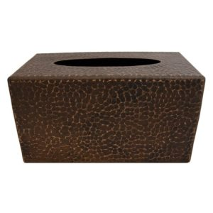Large Hand Hammered Copper Tissue Box Cover