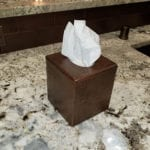 Small Hand Hammered Copper Tissue Box Cover
