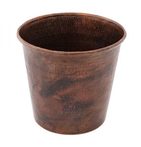 Hand Hammered Copper Waste Bin / Trash Can