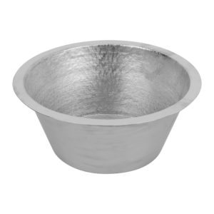 16″ Round Terra Firma Copper Prep Sink in Nickel w/ 3.5″ Drain Size