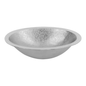 19″ Oval Under Counter Terra Firma Copper Bathroom Sink in Nickel