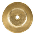14″ Small Round Vessel Terra Firma Brass Sink in Polished Brass