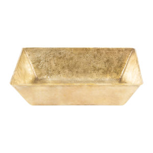 "15"" Rectangle Vessel Terra Firma Brass Sink in Polished Brass"