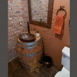 7″ Hand Hammered Copper Towel Ring