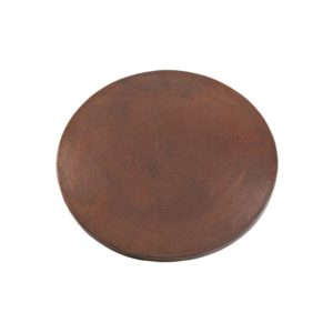 "24"" Round Hammered Copper Table Top"