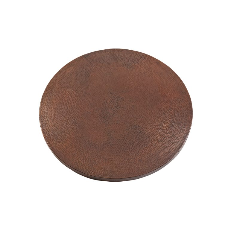 24u2033 Round Hammered Copper Table Top