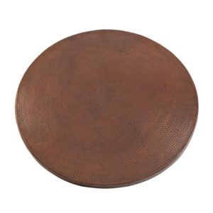 "30"" Round Hammered Copper Table Top"