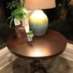 30″ Round Hammered Copper Table Top
