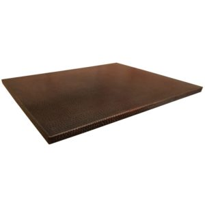 "30"" x 24"" Rectangle Hammered Copper Table Top"