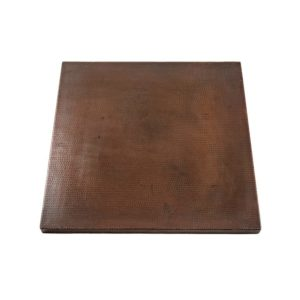 24″ Square Hammered Copper Table Top