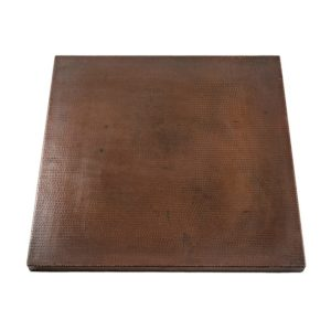 30″ Square Hammered Copper Table Top