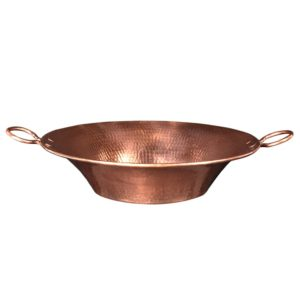 16″ Round Miners Pan Vessel Hammered Copper Sink in Polished Copper