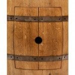 Wine Barrel Vanity Package with 17″ Oval Copper Sink – Natural Finish