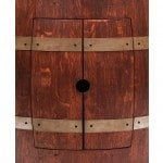 Wine Barrel Vanity Package with 17″ Oval Skirted Vessel Copper Sink – Cabernet Finish