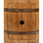 Wine Barrel Vanity Package with 17″ Oval Skirted Vessel Copper Sink – Natural Finish