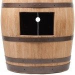 Wine Barrel Vanity Package with 17″ Oval Wired Rim Vessel Sink – Natural Finish