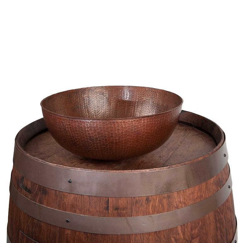 Wine Barrel Vanity Package With 15″ Round Vessel Sink – Whiskey Finish