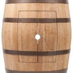Wine Barrel Vanity Package with 15″ Round Wired Rim Vessel Sink – Natural Finish