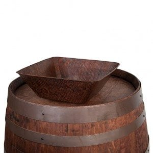 "Wine Barrel Vanity Package with 14"" Square Vessel Sink - Whiskey Finish"