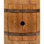Wine Barrel Vanity Package with 17″ Oval Skirted Vessel Copper Sink & Faucet – Natural Finish